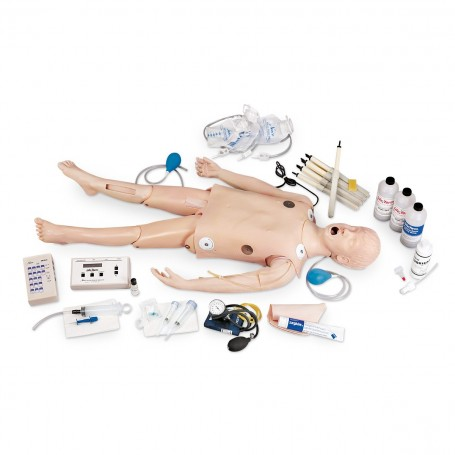 Mannequin de réanimation, avec simulateur ECG
