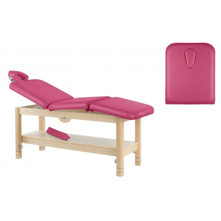 Table de massage fixe en bois