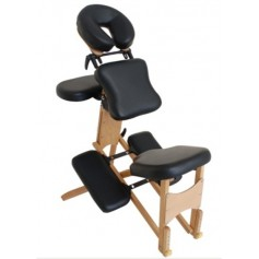 Chaise de massage portable en bois