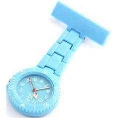 Montre infirmière PVC Bleu Ciel broche 48