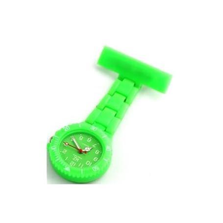 Montre infirmière PVC Vert broche 107