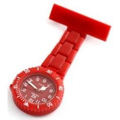 Montre infirmière PVC Rouge broche 104