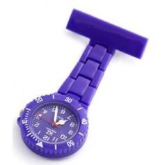Montre infirmière PVC Violet broche 112