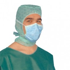 Masque chirurgie LACET 3 PLIS BLEU BARRETTE