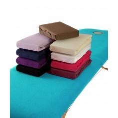 Drap housse pour table de massage en coton eponge