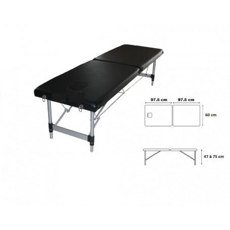 Table d'ostéopathie portable aluminium Toomed