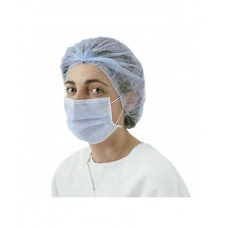 Masques chirurgie à élastiques 3 Plis bleu Barette