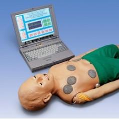 Mannequin de réanimation interactif avec ordinateur portable, multimédia, enfant, 5ans