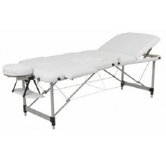 Table de massage en aluminium dossier relevable