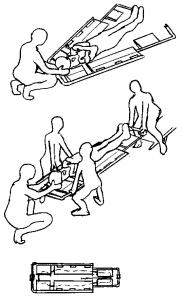 moyen de relevage avec civière