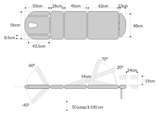 Table d'ostéopathie électrique mobercas