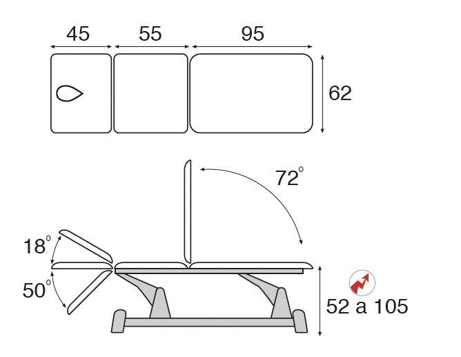 Table de massage électrique 3 plans multi fonctions C5910